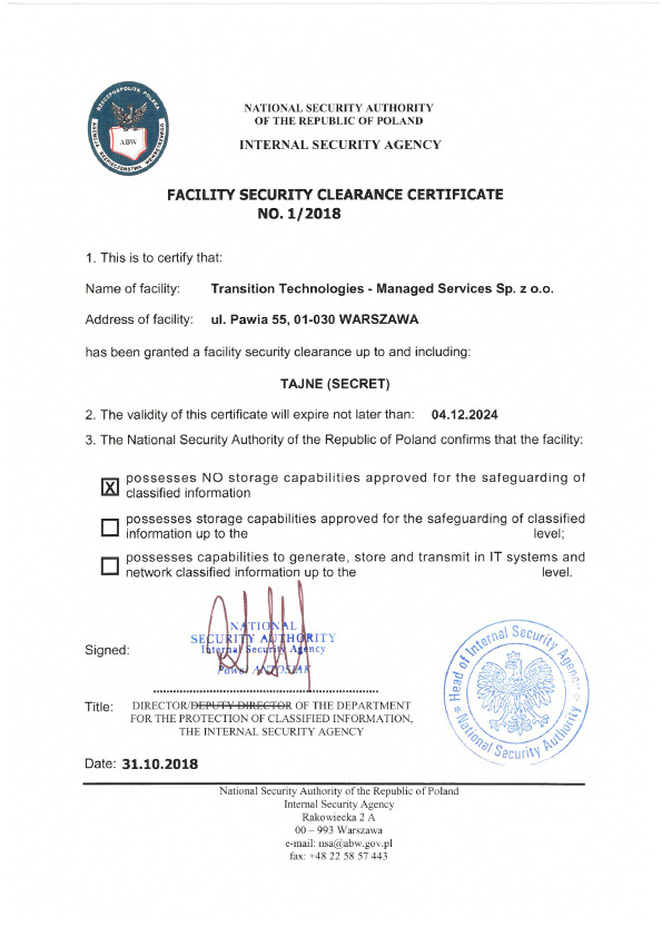 Facility-Security-Clearance-Certificate