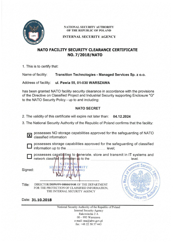 NATO-Facility-Security-Clearance-Certificate